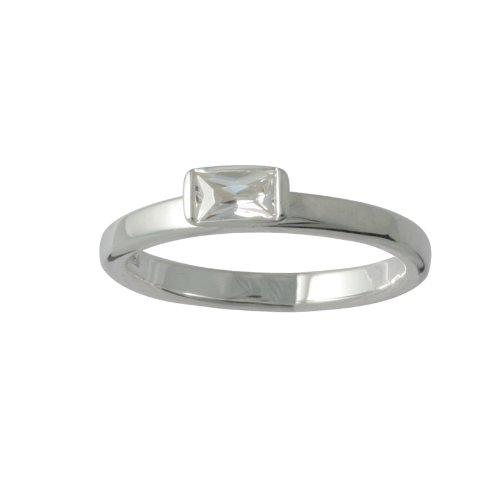 Canyon Damen Ring, Sterling-Silber 925, Zirkonoxid, 60 (19.1), R3656-T60