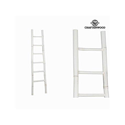 Escalera Bambú Blanco (171 x 39 x 6 cm) - Colección Franklin by Craftenwood