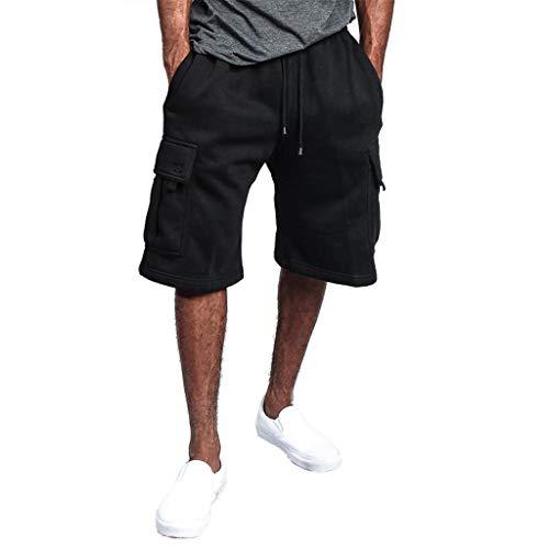 FRAUIT Pantaloni da Lavoro Uomo Corti Estivo Bermuda Uomini Tasconi Cargo Pantaloncino Ragazzo Fitness Pantaloncini Palestra Bodybuilding Shorts Mare Pantacollant Sport Pants Jogging Running