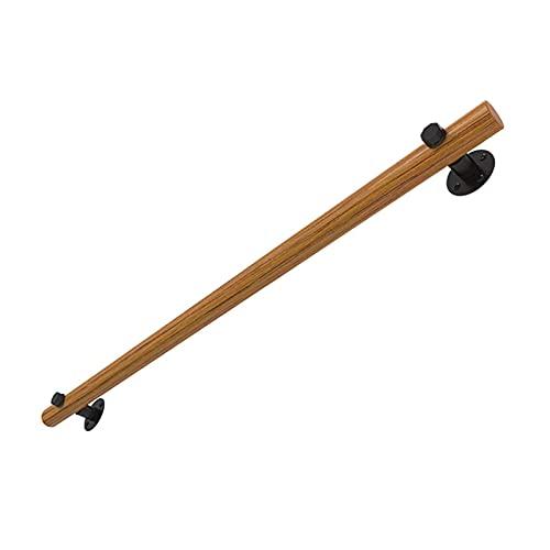 Riyyow Handrail de Madera Antideslizante - Kit Completo, 1 FT - 5 FT Kindergarten Handicap Handicap Barra de Agarre, Seniors Niños Banister For Duboreado de Cubierta al Aire Libre Loft Security