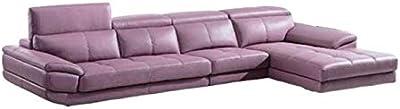Home Plus Lifestyle Cosmo Plus Fabric L Shape Acacia Wood Sofa - 3 Seater + 2 Seater + 1 Corner Sofa (Colour-Purple)
