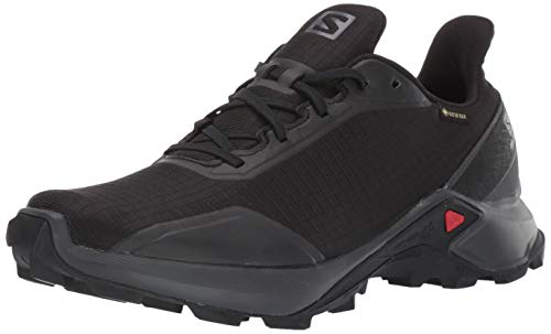 Salomon Men's Alphacross GTX Trail Running Shoes, Black/Ebony/Black, 9.5