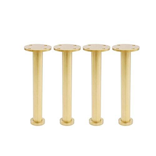 Kaidanwang Patas de Muebles Patas de Mesa de Repuesto Pies de Muebles de Cobre Puro DIY Sofá Ajustable Soporte de Soporte Pies de gabinete/Mesa de TV (Size : 130mm)