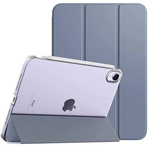 TiMOVO Funda Compatible con Nuevo iPad Mini 6ª Generación, iPad Mini 6 Funda(8.3'', 2021) Tableta, Carcasa Trifold Admitir Carga Magnética de 2nd Gen iPencil Auto & Estela/Sueño, Grisáceo Púrpura