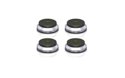 VIABLUE QTC Discs 4 Stück/Set Silber Spikeuntersetzer