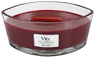 Apple Crisp HearthWick Flame Large Scented Candle by WoodWick, Red