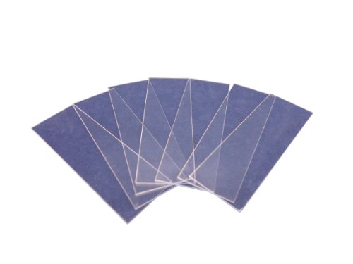 Ajax Scientific Plastic Microscope Slide, 75mm Length x 25mm Width, Clear (Pack of 72),BI598-0072