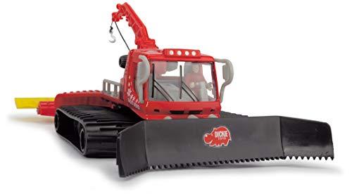 Dickie Toys Pistenraupe, Schneeraupe, Snow Hero, bewegliche Teile, 23 cm groß, rot/schwarz