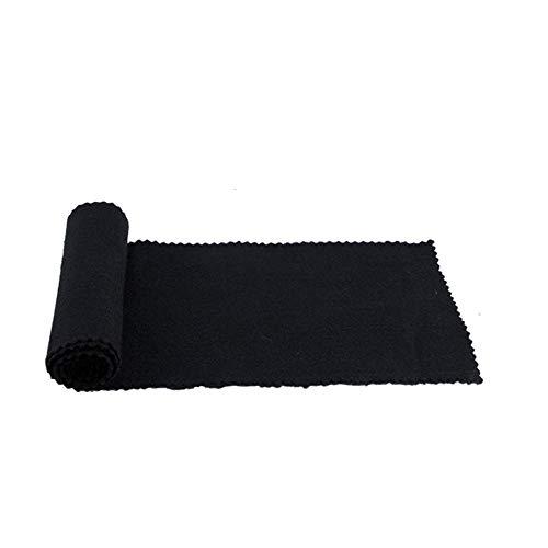 NUZAMAS Piano Keyboard Cover Staubschutzhülle Weiches Tuch für Piano Electronic Keyboard, Digital Piano Reinigungspflege 119 * 14cm, Schwarz