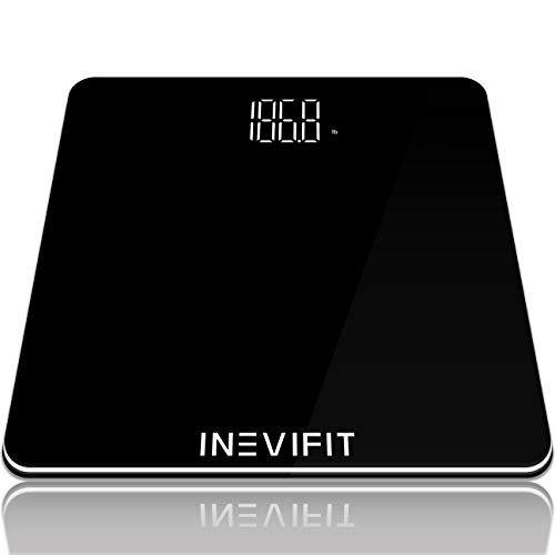 INEVIFIT Bathroom Scale, Highly Accurate Digital Bathroom Body Scale, Precisely Measures Weight up to 400 lbs