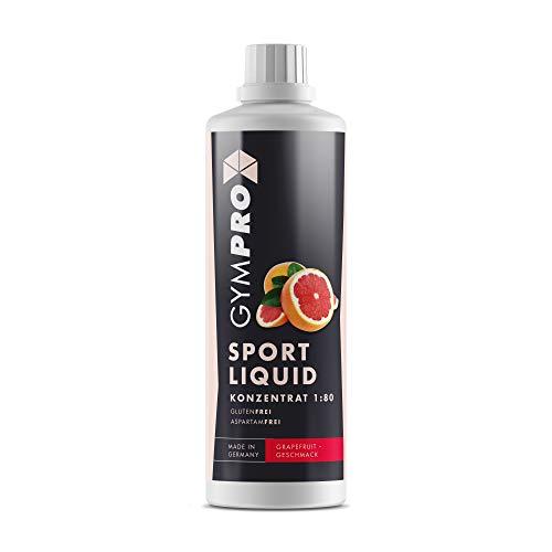GymPro - Sport Liquid, Fitnessgetränk Konzentrat (1000ml) Lower Carb Drink, Sirup Getränke Konzentrat in Flasche mit L-Carnitin, Magnesium und Vitaminen für Fitness und Sportdrinks (Grapefruit)