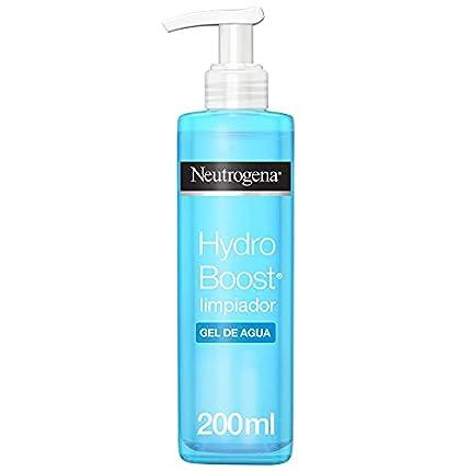 Neutrogena Hydo Boost Gel de Agua Limpiador Facial con Ácido Hialurónico, 200 ml