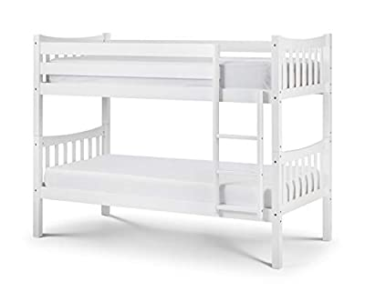 Julian Bowen Zodiac Bunk Bed, Bright White, Single
