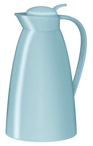 alfi Kaffeekanne Eco, Thermoskanne Kunststoff hellblau 1l, mit alfiDur Glaseinsatz, 0825.257.100, Isolierkanne hält 12 Stunden heiß, ideal für Kaffee oder Teekanne, Kanne für 8 Tassen
