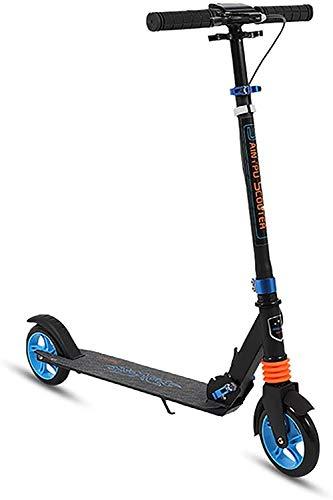 Scooter Glide Scooter para niños de 10 años en adelante/adultos + neumáticos grandes + altura ajustable con frenos delanteros ruedas inflables marco de acero tabla de pie ancha no requiere montaje