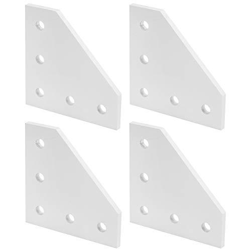 Placa de unión de plata de aleación de aluminio, placa de conexión, proyecto de robot para impresora 3D enrutador CNC para la industria de la construcción(2020L type)