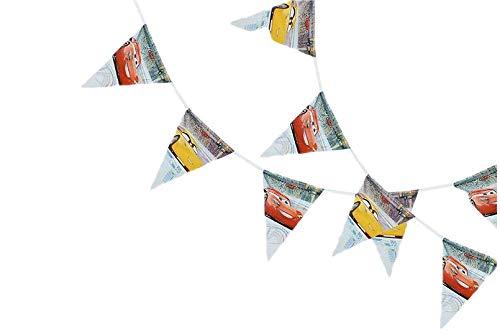 2373: Disney Cars-vlaggen; praat product; wimpel afmetingen 23x29 cm; totale afmeting 2.3 lineaire meters