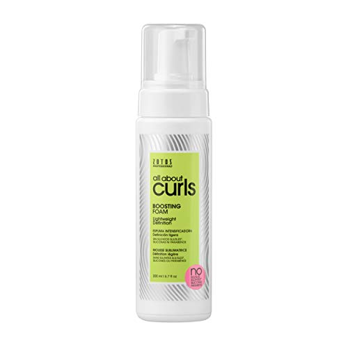 All About Curls Boosting Foam, Free of SLS SLES Sulfates, Silicones and Parabens, Color-Safe, 6.7-Ounce