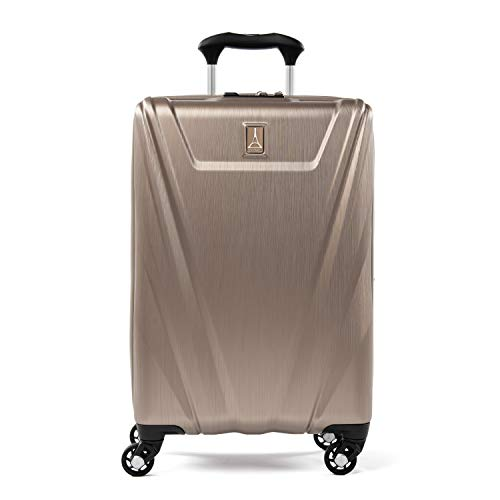 Travelpro Maxlite 5-Hardside Spinner Wheel Luggage, Brushed Champagne, Carry-On 21-Inch