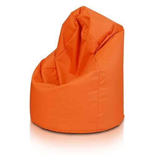 Bepouf Poltrona Sacco Puf Pouf Dimensioni 110x70 Poliestere Pieno (Arancione, Media)
