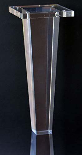 Acrylic Lucite Furniture Legs for Sofa, Cabinet, ET Center Vanity, Large 10'H Tapered Square Furniture Legs 4PC