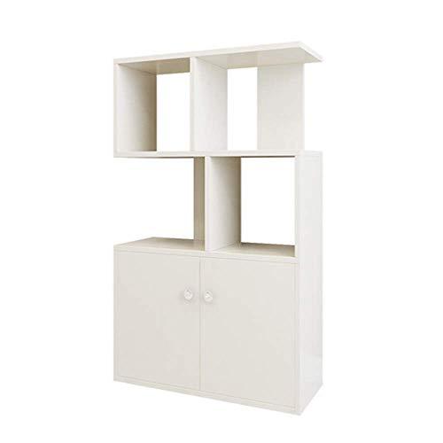 Laqemhu Estantería Blanca Creativa de pie Soporte de exhibición multifunción Sala de Estar Dormitorio 60 X 24 X 91Cm