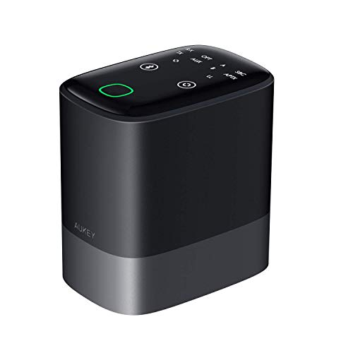 Bluetoothトランスミッター レシーバー 1台3役 AUKEY Bluetooth5.0 送信機/受信機/バイパス機能搭載 高音質 apt-XLowLatency 低遅延 apt-X AAC対応 Android/iPhone 2台同時接続 多種類オーディオ接続に対応 AUX/RCA/光デジタル接続をサポート ステレオシステム・イヤホン・テレビなどで使える BR-O8
