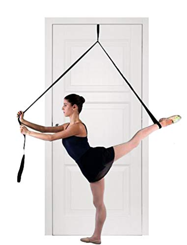 EASTERUP Leg Stretcher-Improve Leg Stretching Door Flexibility Stretching Leg Strap with Door Anchor for Ballet,Dance,MMA,Taekwondo & Gymnastics (Black)