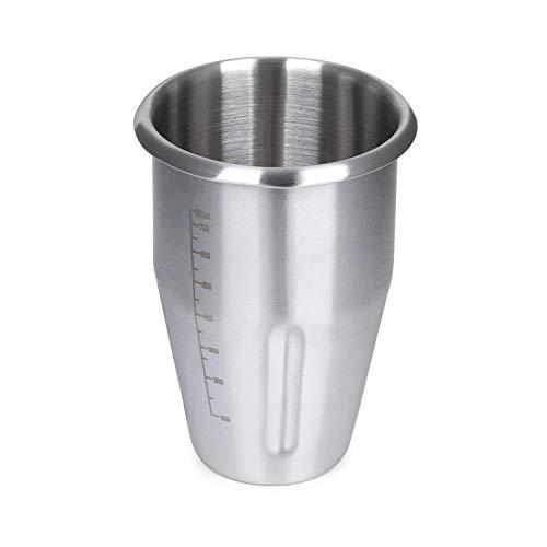 Klarstein Kraftpaket Pro Edelstahlbecher, Zubehör, Ersatz, Kapazität: 1 Liter, Mixbecher, Edelstahl, silber