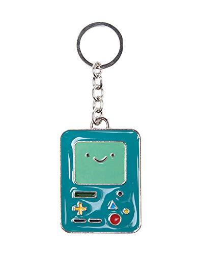 Adventure Time Time Metal Beemo Keyring Schlüsselanhänger, 10 cm, Blau (Blue)