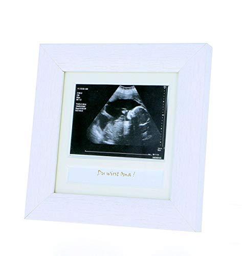 Bilderrahmen Ultraschall, Echographie Du wirst Oma, Opa, möchtest Du meine Taufpatin, Taufpate werden, ich bin schwanger