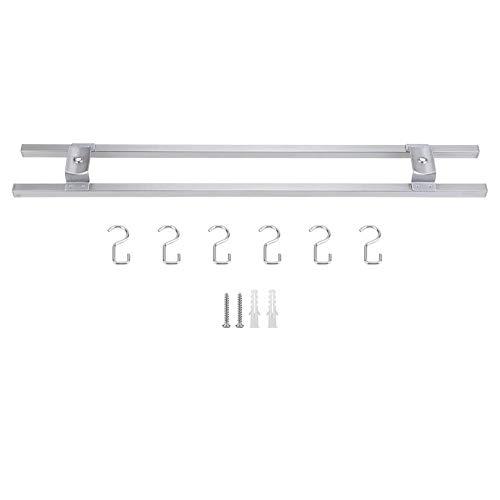 Aramox Magnetisch messenblok, messenhouder, roestvrij staal, magneet, messenstandaard, wandmontage, dubbelbaar, keukenstandaard