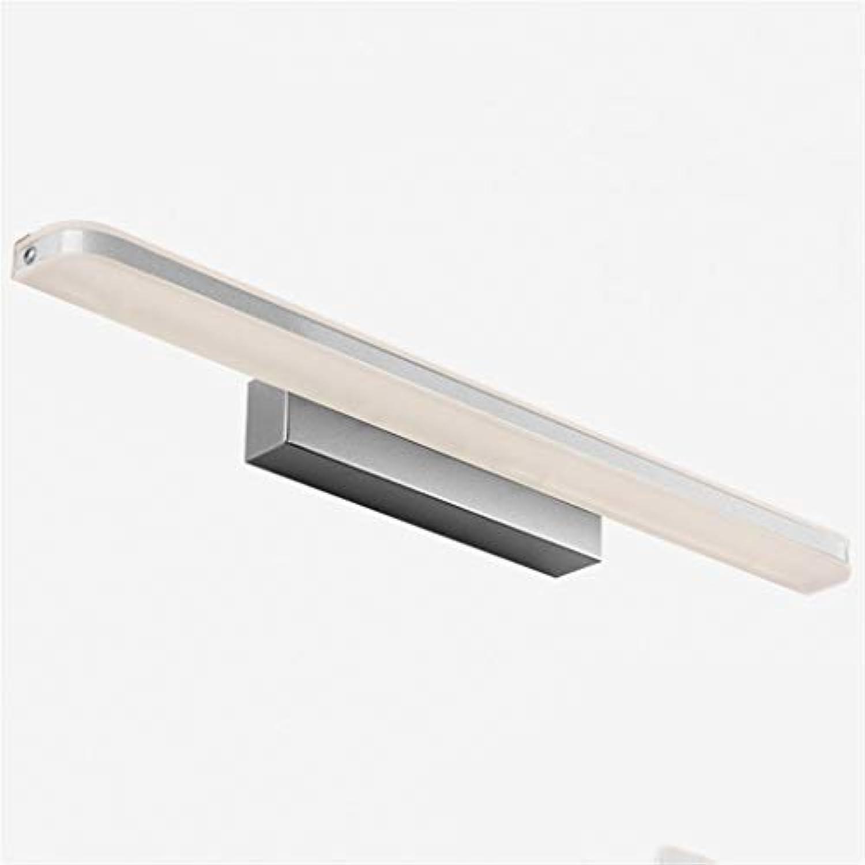 BAIF wasserdichte Anti-Fog-LED-Spiegel vorne Ligh Wandleuchte Badezimmerspiegel Schrankbeleuchtung (Farbe  Silber-60CM10W)