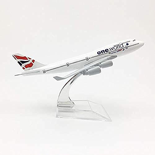 Modell 1/400 British Airways One World Boeing 747 B747 Flugzeugmodell Air Passenger Kids Collection Metallflugzeug Flugzeugmodell