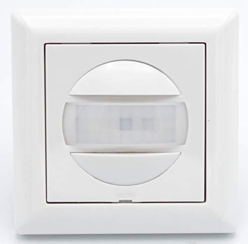 HUBER Motion 13 PIR Bewegungsmelder 170° für Innen I Unterputz Bewegungsmelder - Motion Sensor mit Taster, auch für Schalterserien [55x55mm], 2-Draht-Technik