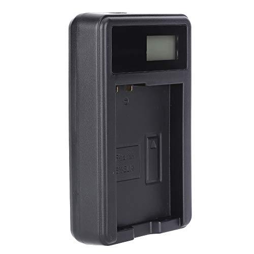 EN-EL14カメラバッテリーシングルチャージャー、ニコンD3100 D3200 D3300 D5100 D5200 D5300 D5500、ニコンCoolpix P7000 P7100 P7700 P7800用LCDディスプレイ付き