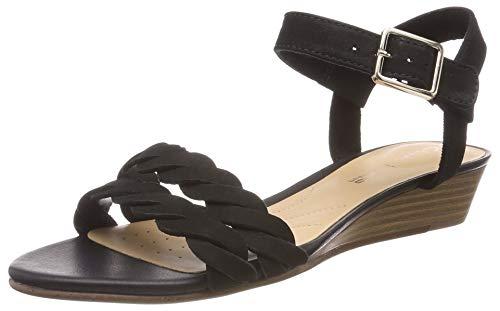 Clarks Mena Blossom, Zapatos de Tacón para Mujer, Negro (Black Nubuck-), 41 EU