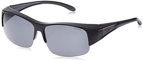Polaroid Suncovers Fitover Sunglasses P8405 KIH Y2 Black Grey Polarized