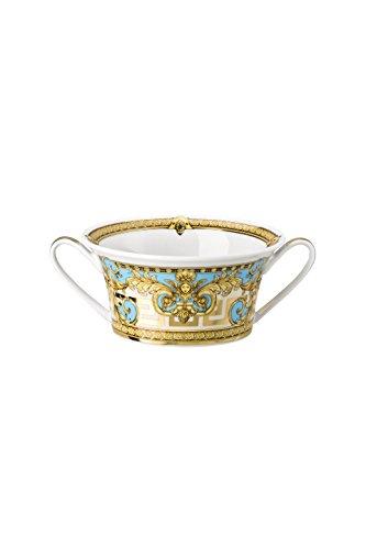 Prestige Gala - Juego de tazas de desayuno con plato (2 unidades), color azul