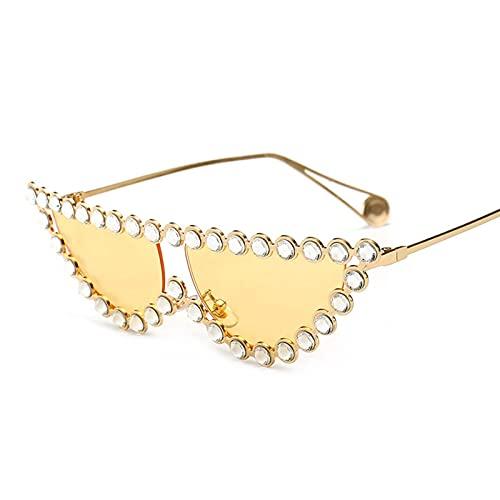 Personalidad Gafas de sol Hombres y mujeres Ancient Street Shooting Personalidad Gafas de sol Gafas de gato UV400 Sombra de verano al aire libre Viajes de sombra (Color : E)
