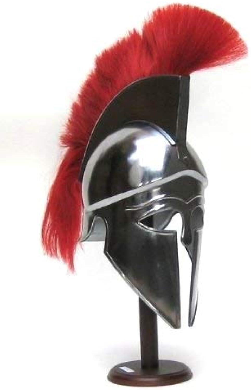 NAUTICALMART Corinthian Armor Helmet with RED Plume
