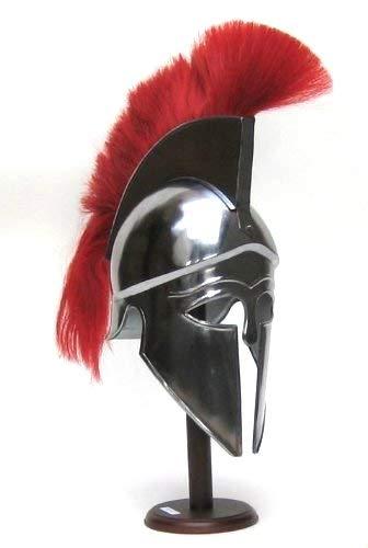 NauticalMart Medieval Greek Corinthian Armour Helmet with Red Plume Knight Spartan Helmet Replica