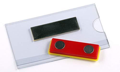 OPUS 2 Namensschild mit Magnet, 121267, 75x40mm, Transparent, 24 Stück.