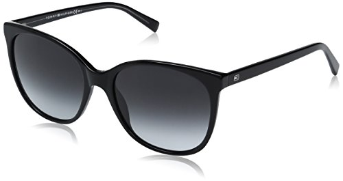 Tommy Hilfiger Damen TH 1448/S 9O 8Y5 56 Sonnenbrille, Schwarz (Black Grey)