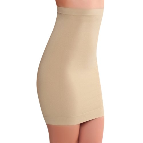 Smart Fit Me Women's Slimming Half Slip for Under Dresses (Nude, S)