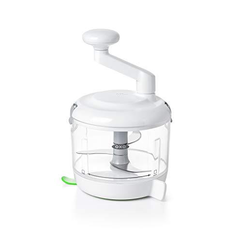OXO Good Grips Manuell betriebene Küchenmaschine, weiß/transparent