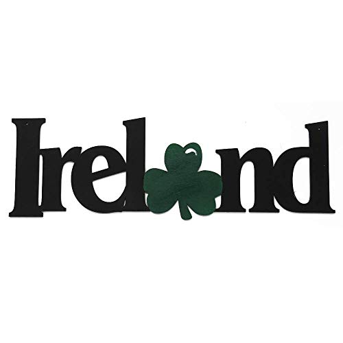 MEMORY MATS & WORD ART International Places Themed Decorative Wall Signs - Vacation & Destination Geographic Graphic Plaque – Real Wood – Made in The USA (Ireland)