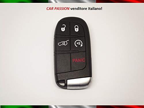 Carcasa para llave con mando a distancia para Fiat 500X Freemont, carcasa de repuesto de 5 botones, reparación de hoja virgen