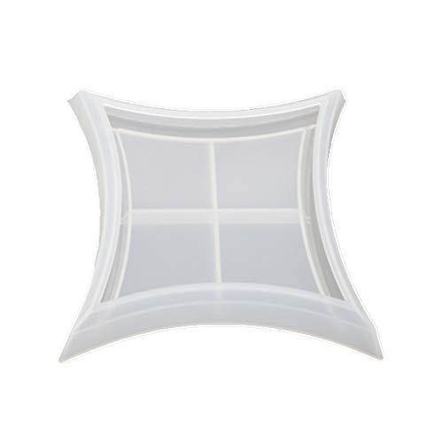 KunmniZ Moldes irregulares para placas de espejo alto, para manualidades, diseño de epoxi, hecho a mano, caja de almacenamiento de silicona