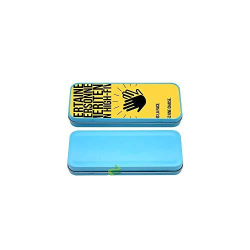 Générique Boite à Crayon Coque High Five - Bleu